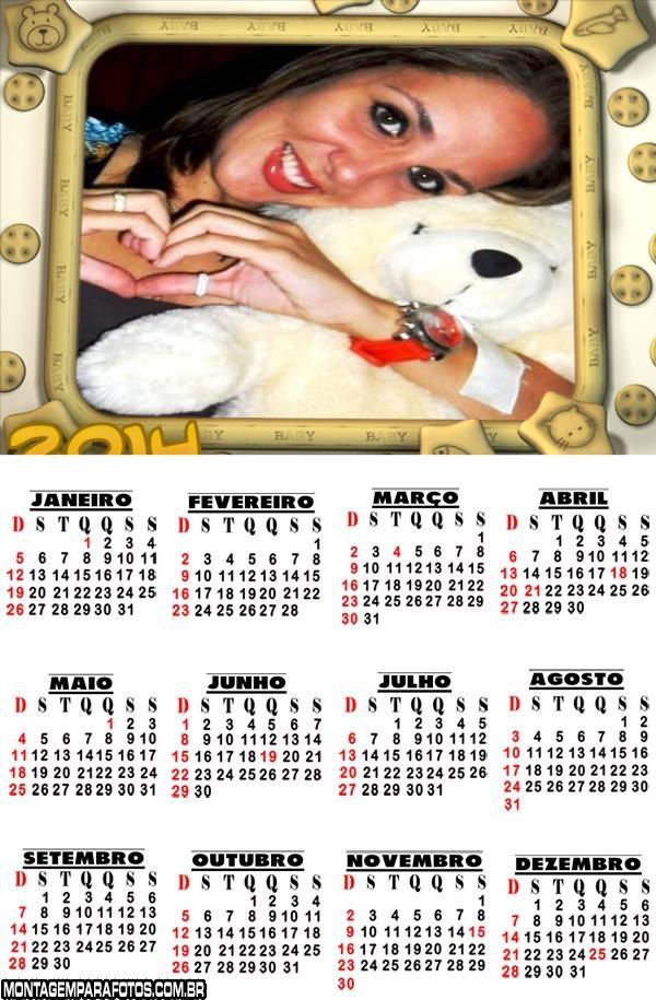 Calendário 2014 com Foto
