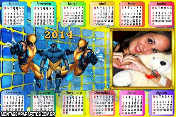 Calendário 2014 do Wolverine