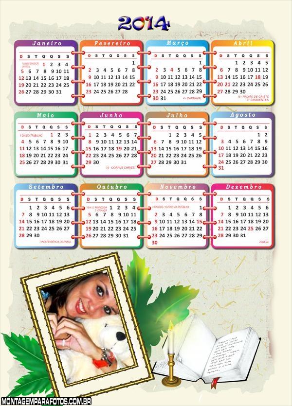 Calendário Oração 2014