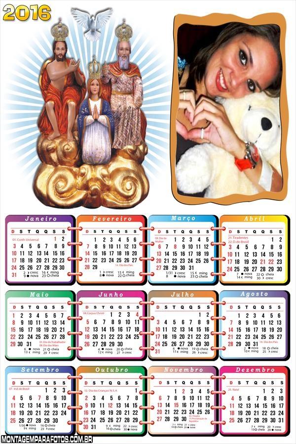 Calendário Divino Pai Eterno Trindade 2016