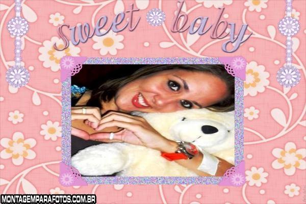 Moldura Sweet Baby Rosa