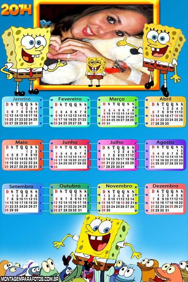 Calendário 2014 Bob Esponja