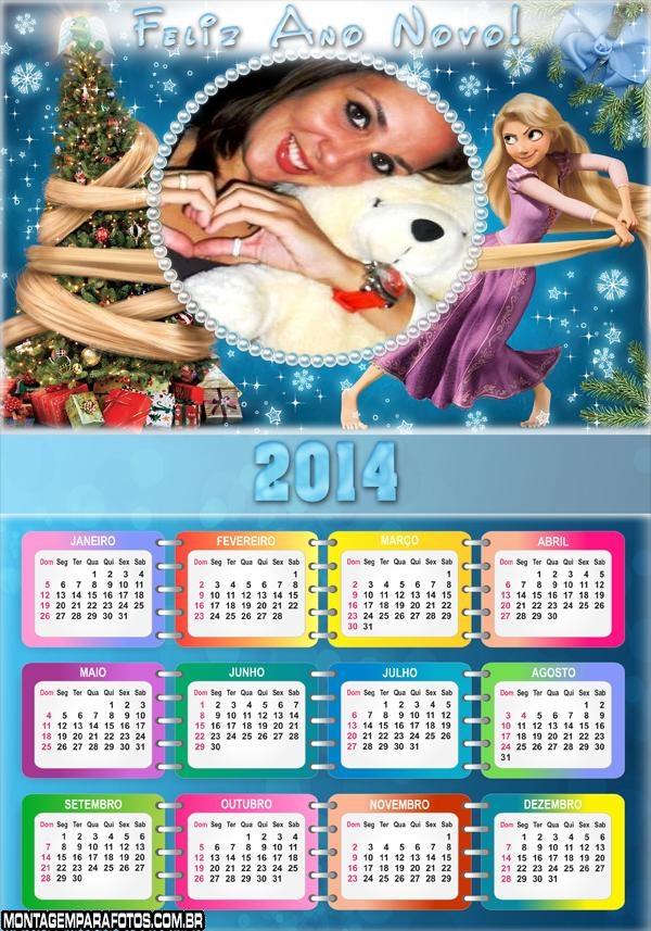 Calendário 2014 Rapunzel Natal