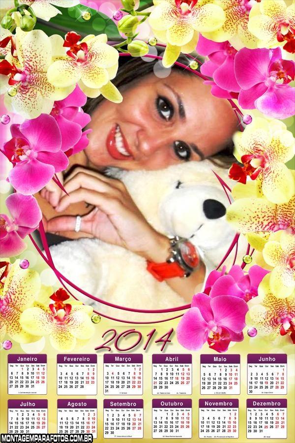Calendário das Orquídeas 2014