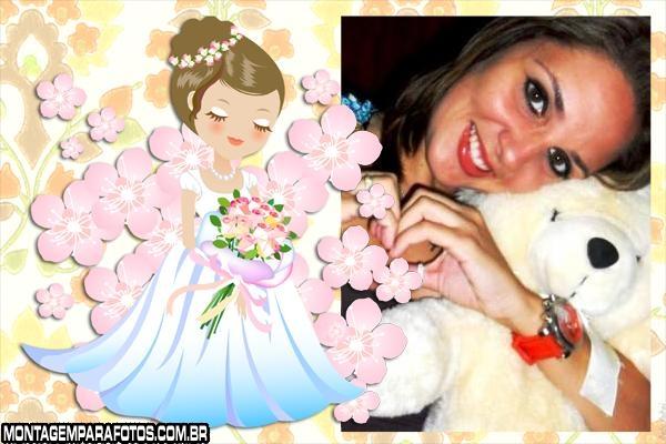 Moldura Bonequinha Noiva