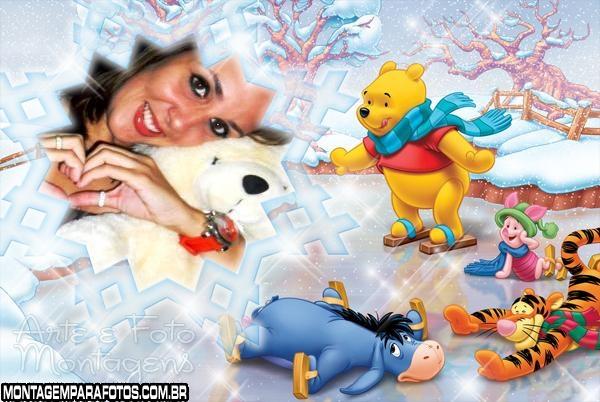 Esquiando no gelo com Pooh