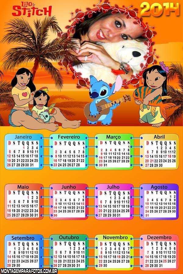 Calendário 2014 Lilo e Stitch