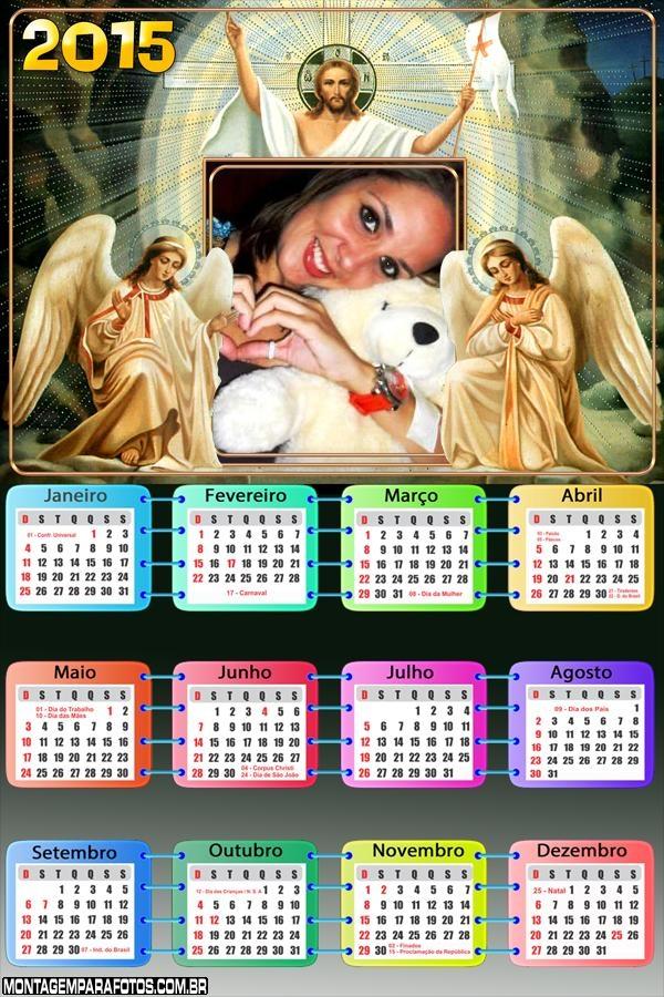 Calendário 2015 Jesus e Anjos