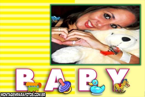 Moldura Baby Letrinhas