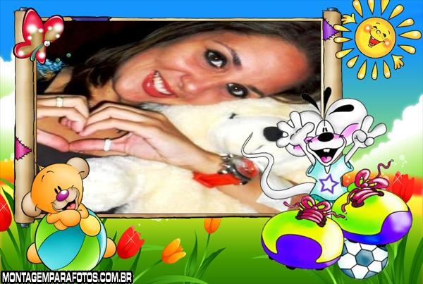 Moldura Rato Branco Feliz