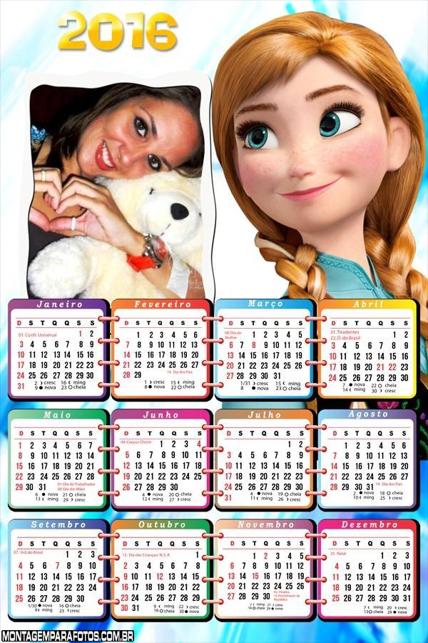 Calendário Princesa Anna