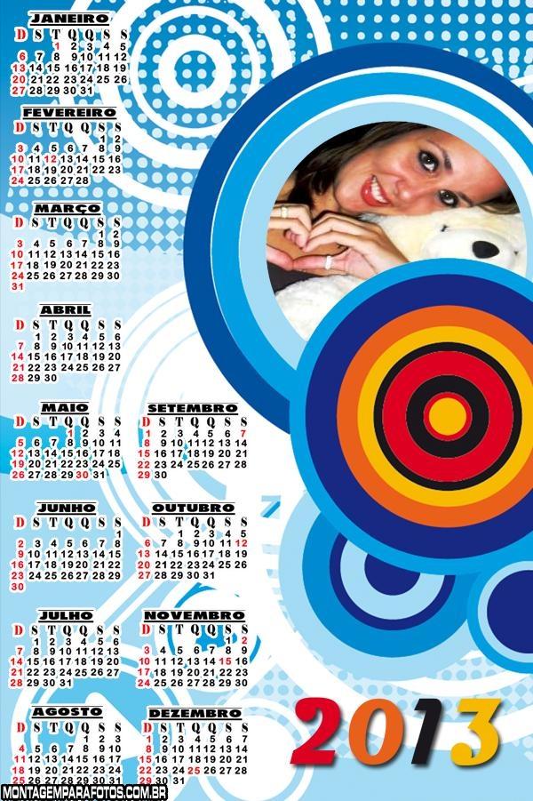 Moldura Calendário Abstrato 2013