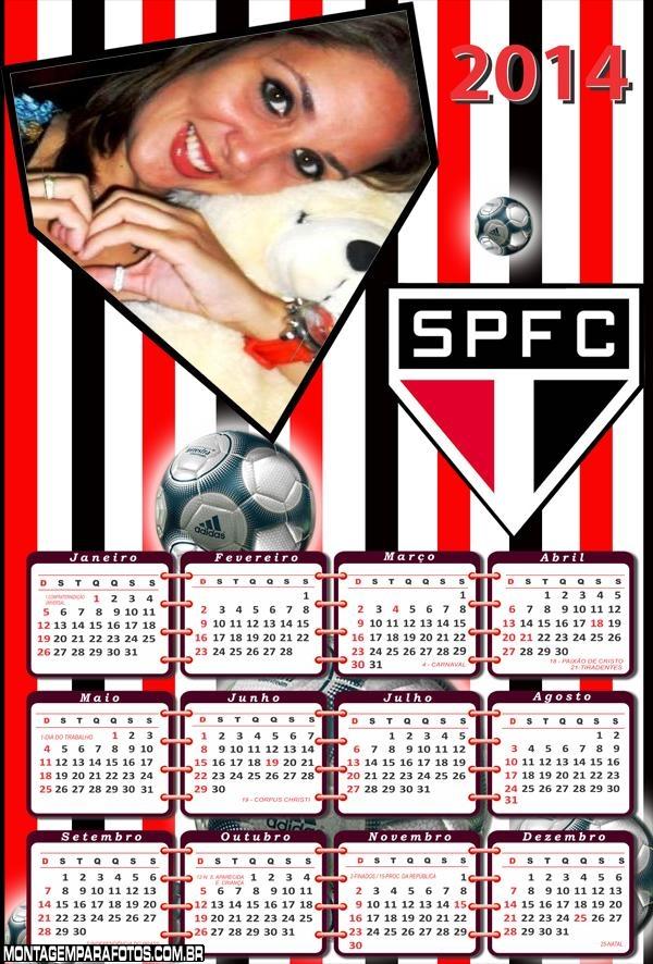 Calendário do Tricolor SP 2014
