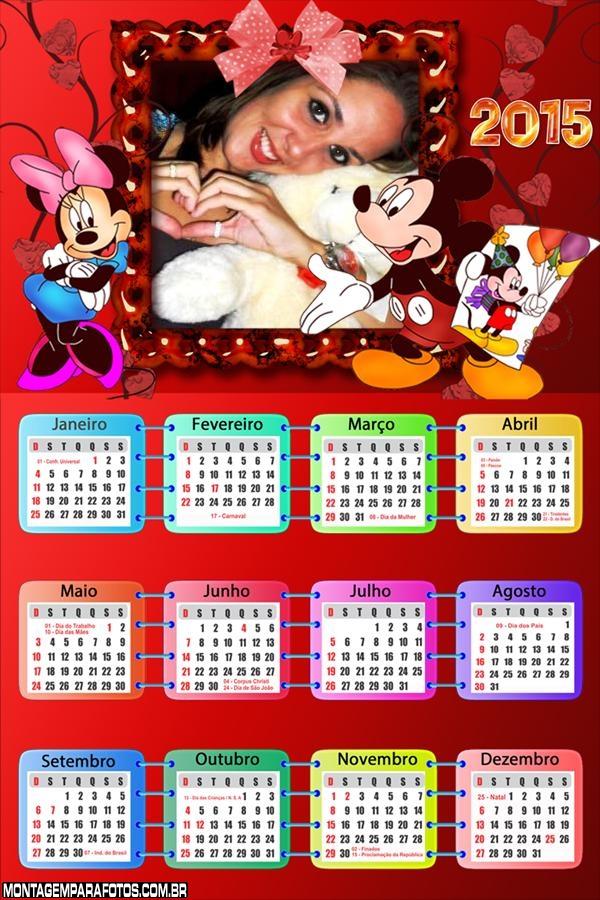 Calendário 2015 Mickey Foto