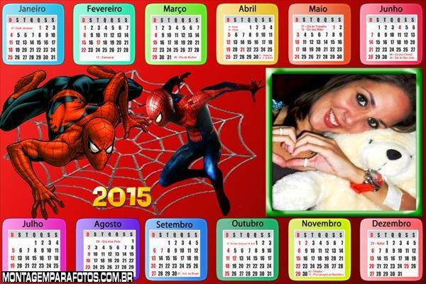 Calendário 2015 Spider Man