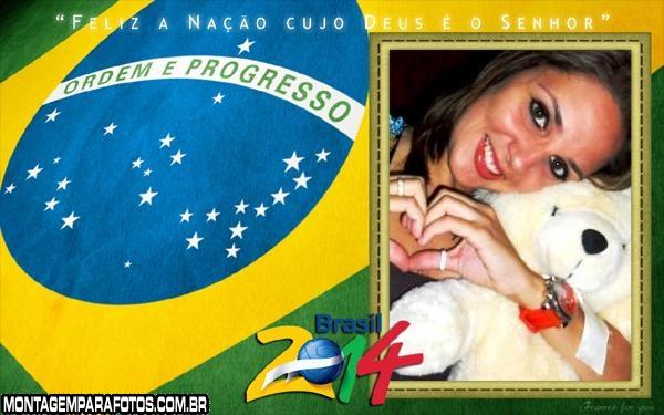 Moldura Bandeira Brasil 2014
