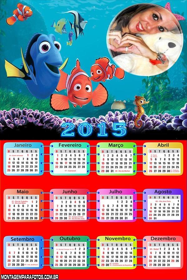 Calendário 2015 do Nemo