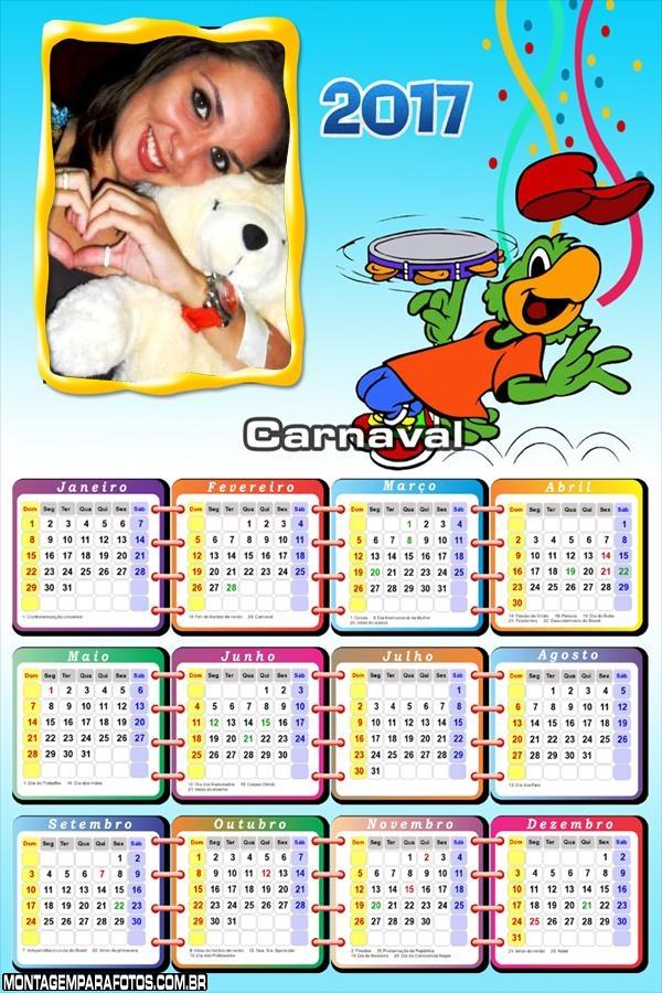 Calendário 2017 Carnaval do Zé Carioca
