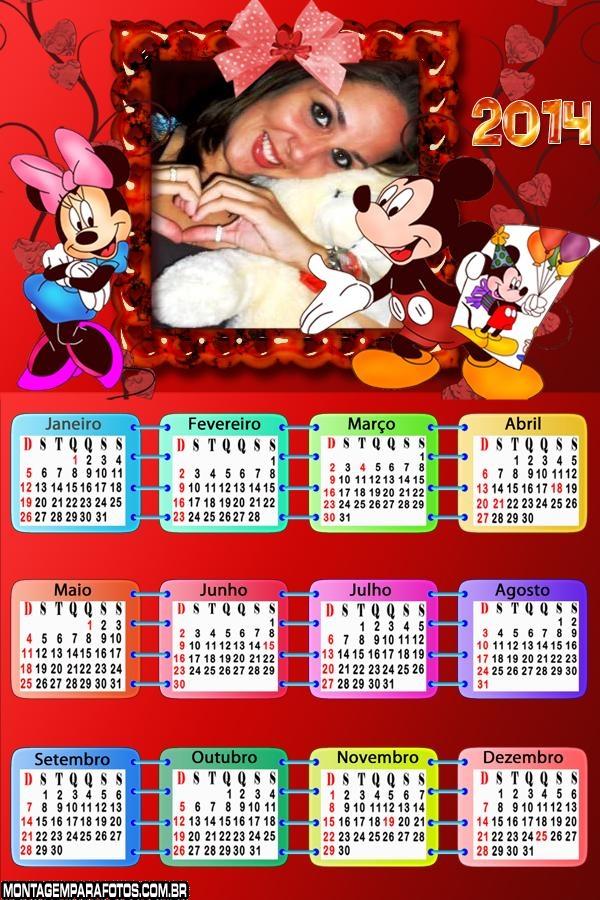 Calendário Aniversário Mickey