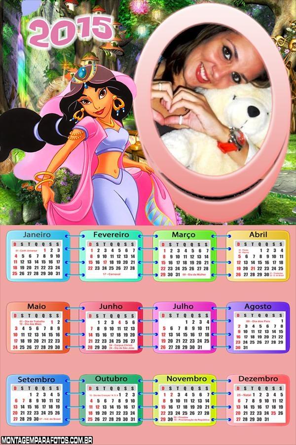 Calendário 2015 Jasmine Aladdin