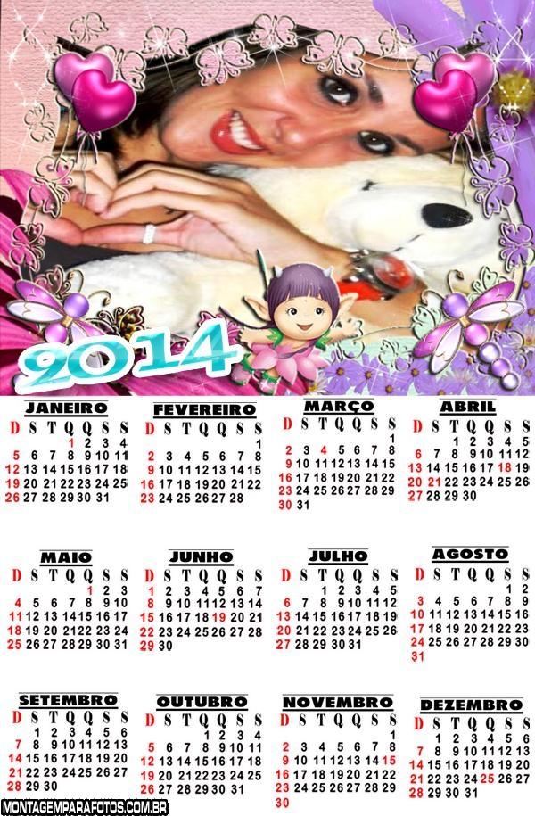 Calendário 2014 Fadinha