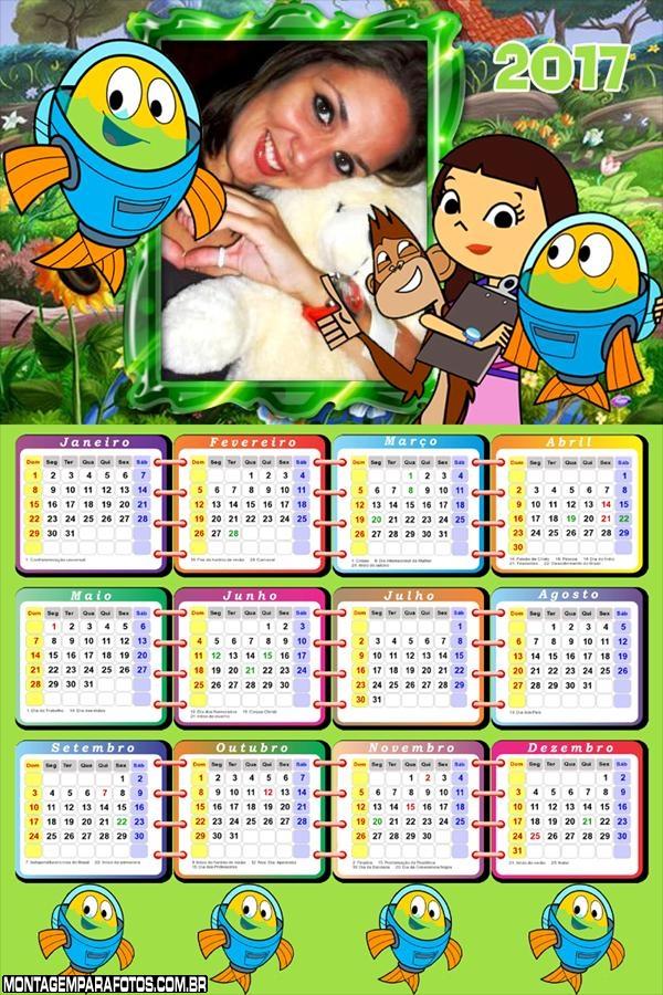 Calendário 2017 Peixonautas Desenho