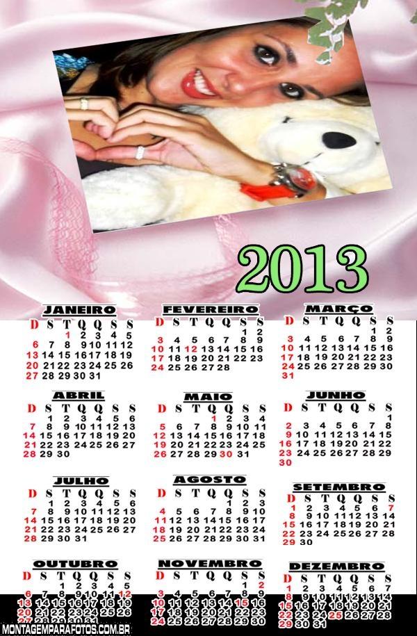 Calendário Tecido de Seda 2013