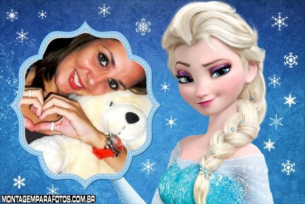 Moldura Frozen Elsa