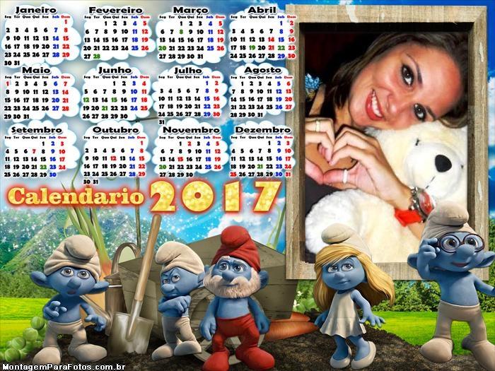 Calendário 2017 Smurfs