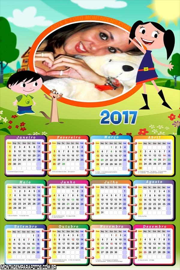 Calendário 2017 Luna Desenho Discovery Kids
