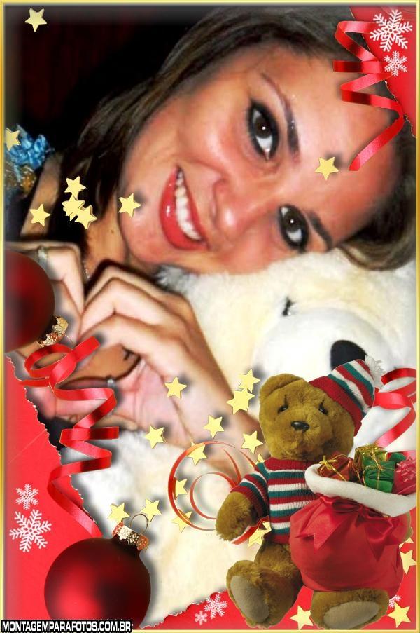 Moldura Ursinho Noel