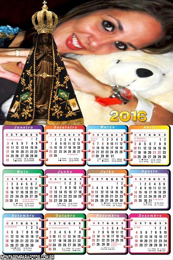 Calendário Nossa Senhora Aparecida 2016