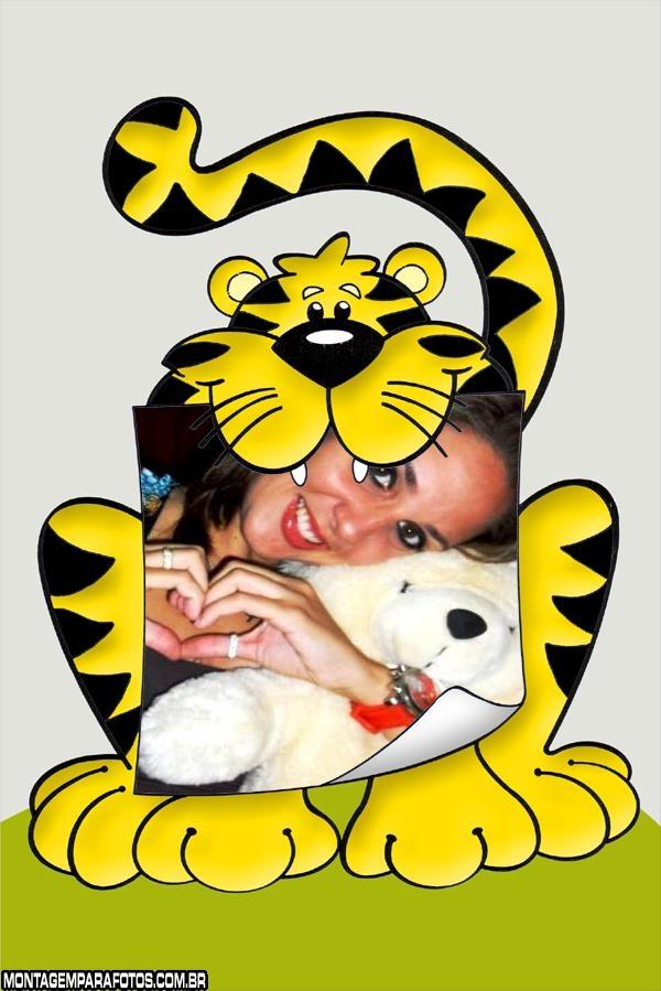 Moldura Tigre com Papel Boca