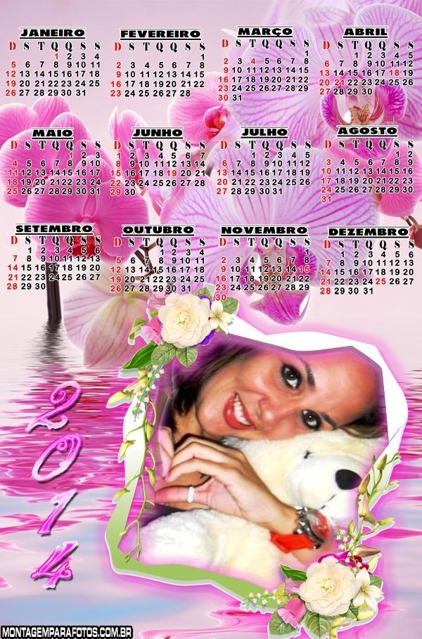 Calendário 2014 Lindas Flores