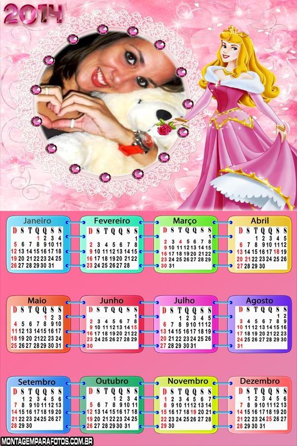 Calendário 2014 Princesa