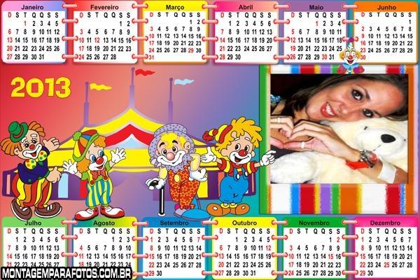 Calendário Circo Animado 2013