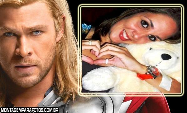 Moldura Thor Os Vingadores
