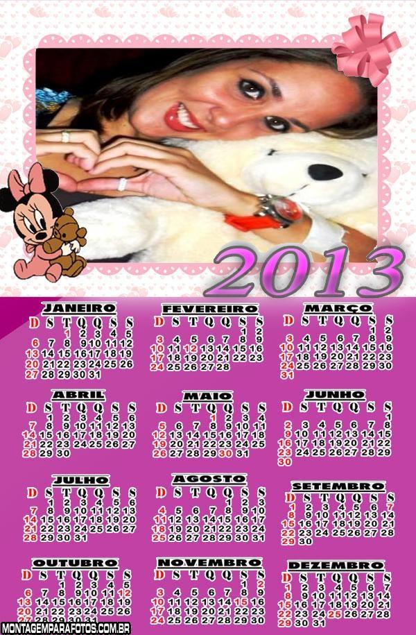 Calendário 2013 Minnie Baby