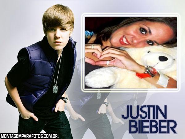 Moldura Foto Justin Bieber