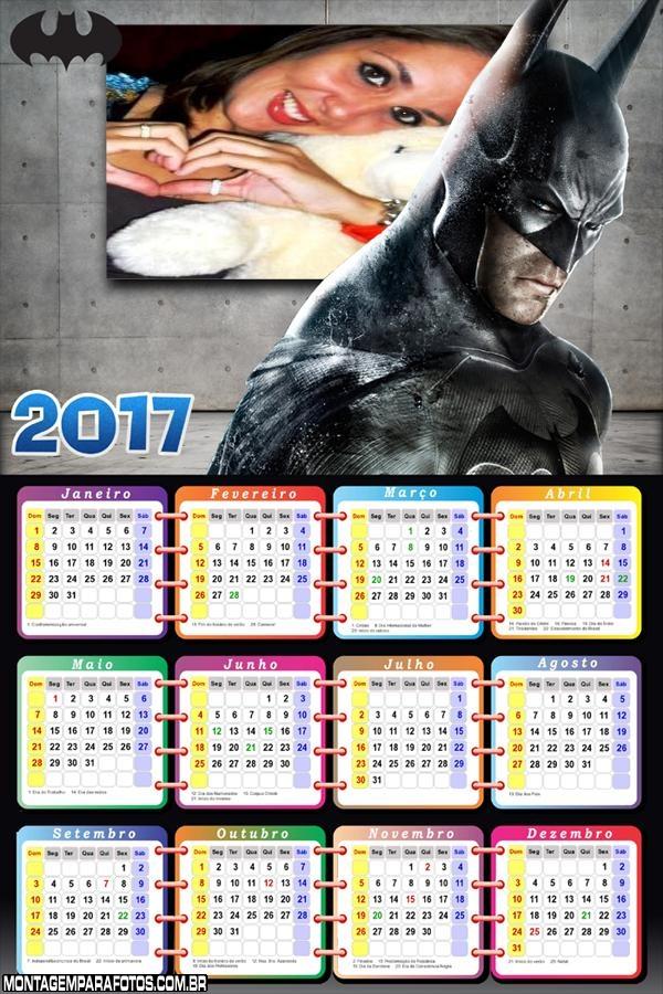Calendário 2017 Batman