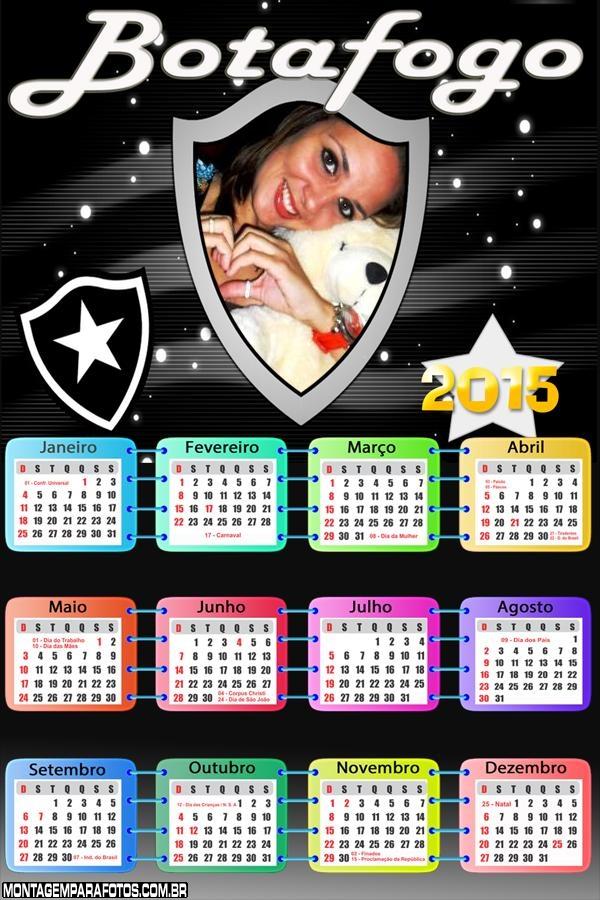 Calendário 2015 Botafogo