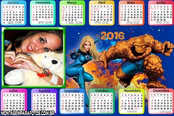 Calendário Quarteto Fantástico 2016 Filme