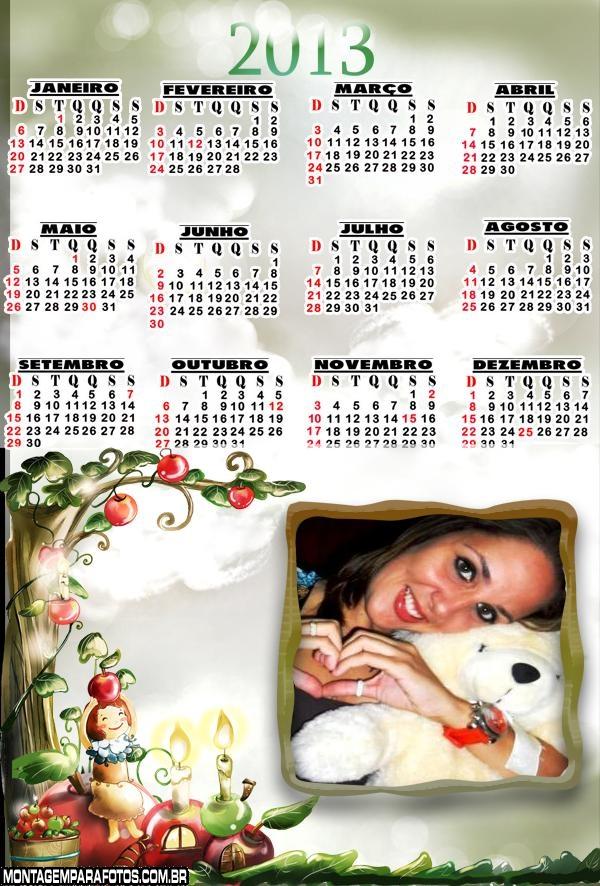 Calendário 2013 Fantasia
