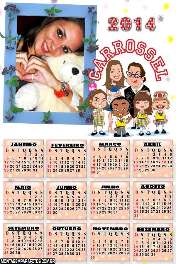 Calendário Carrosel Desenho