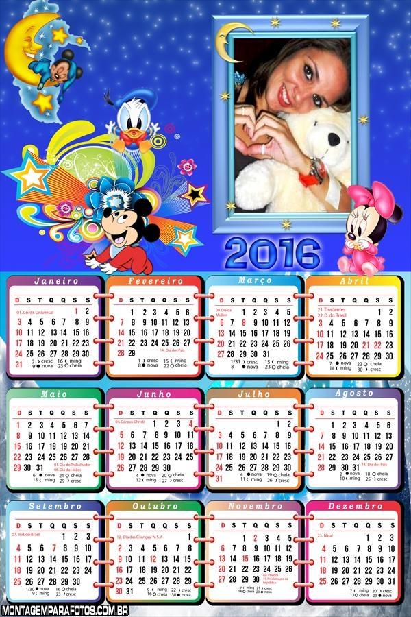 Calendário Disney Baby 2016