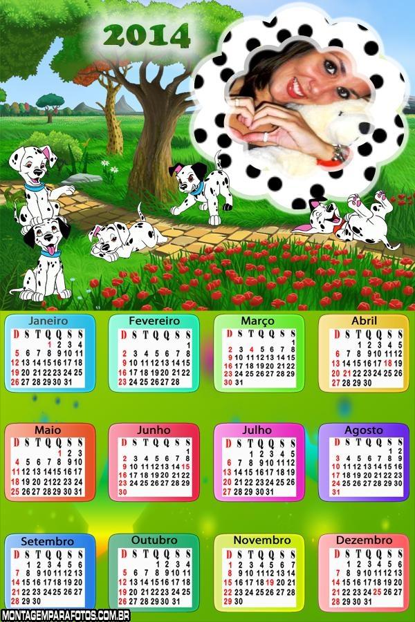 Calendário 2014 Cachorinhos