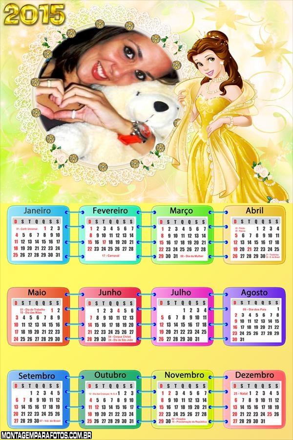 Princesa Vestido Amarelo 2015