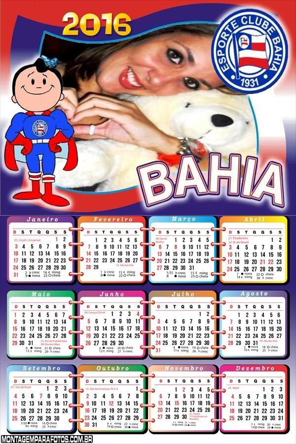 Calendário Time Bahia Futebol 2016