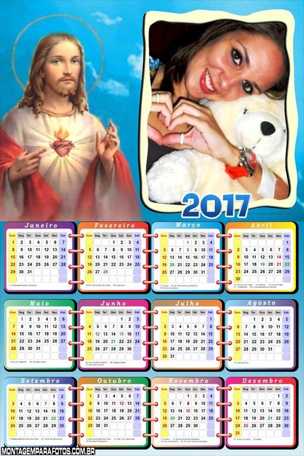 Calendário 2017 de Cristo