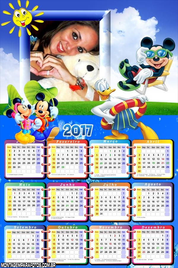 Calendário 2017 Férias Disney Mickey